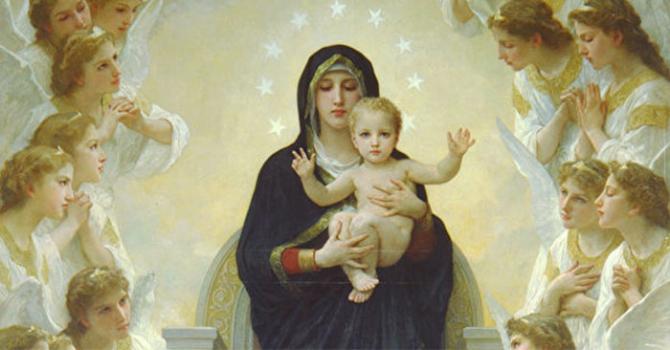 Hình ảnh Đức Mẹ Đồng trinh và Chúa Hài đồng đẹp nhất trong tranh