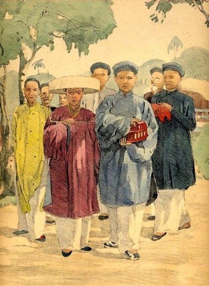 Ấn tượng cuộc sống người Việt vào thập niên 1930 được tái hiện qua tranh vẽ