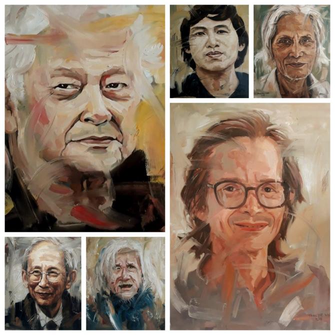 Ngắm chân dung các văn nghệ sĩ, trí thức tài hoa và truân chuyên