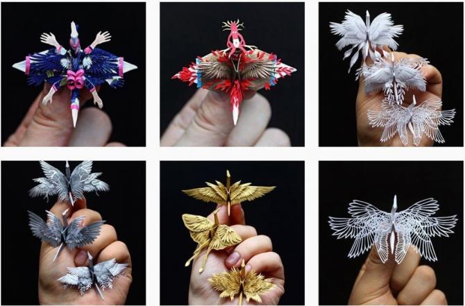 Ngắm những chú hạc giấy origami đẹp ngỡ ngàng