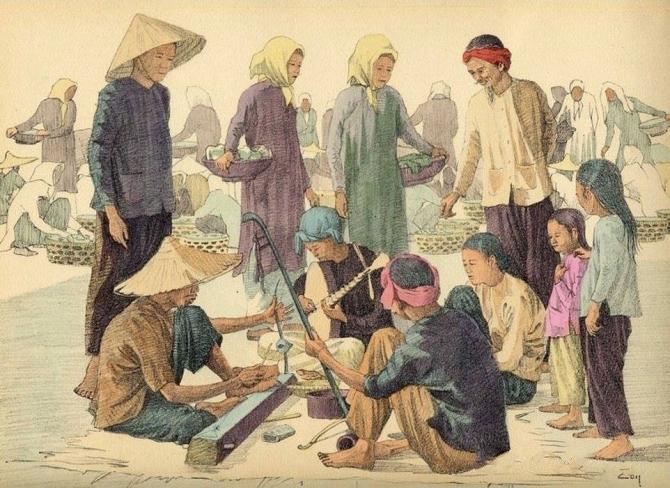 Chiêm ngưỡng bộ tranh vẽ cuộc sống người Việt vào thập niên 1930